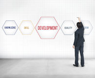 Development Success Training Geometric Forms Graphic Royalty Free Stock Photography