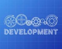 Development Blueprint Stock Illustration