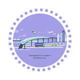 Development of Transport Infrastructure Icon Flat Stock Images