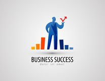 Development vector logo design template. business Royalty Free Stock Image