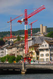 Development in Zurich. Continuous Development of Infrastructure in Advanced Country royalty free stock photography