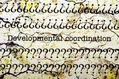 Developmental coordination. Close up of Developmental coordination Royalty Free Stock Photography