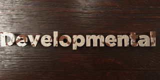 Developmental - grungy wooden headline on Maple - 3D rendered royalty free stock image. This image can be used for an online website banner ad or a print stock illustration