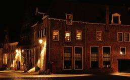 Deventer вечером в Bergquarter стоковые фото