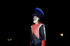 Deventer фестиваля поступка op stelten на ноче Стоковое фото RF
