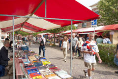 The Deventer book market in the Netherlands. Stock Photo