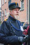 Policeman one of the characters from the famous books of Dickens. Deventer, Netherlands – December 18, 2016: Policeman one of the characters from the famous Royalty Free Stock Image