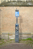 DEVENTER, NETHERLANDS -DECEMBER 24, 2016: Toll ticket parkingzone: an automatic device to pay for parking. Royalty Free Stock Photo