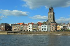 Deventer. The view of historic center of Deventer, Netherlands Royalty Free Stock Image