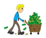 Devenu riche Image libre de droits