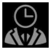 Dever de intervalo mínimo branco Person Icon ilustração do vetor