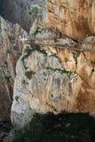 Dever-faz o ` s de Rey The King do del do EL Caminito pouco caminho perto de Malage na Espanha Imagens de Stock