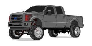 Dever super de Ford F250 no vetor ilustração royalty free