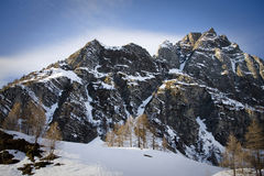 Devero alp in winter Royalty Free Stock Images