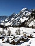 Devero di Alpe in inverno Fotografia Stock Libera da Diritti
