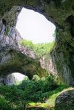 Devetashka cave. Green exits from mystery cave, Devetashka cave, Bulgaria Royalty Free Stock Image