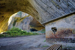 Devetashka cave interior near city of Lovech Stock Photography