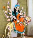 Devi CHANDRAGHANTA för hinduisk gud förebild royaltyfria foton