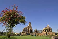 Devi Jagadambi Temple - left and Chitragupta Templ Stock Photography