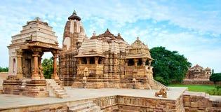 Devi Jagdambi Temple, dedicated to Parvati, Western Temples of K. Hajuraho. Unesco World Heritage Site. Popular amongst tourists all over the world Stock Photos
