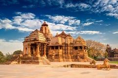 Devi Jagdambi Temple, Khajuraho , Unesco-de plaats van de werelderfenis Royalty-vrije Stock Fotografie