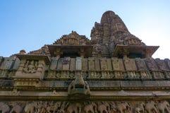 Devi Jagdambi Temple, temples occidentaux dans des temples de Khajuraho de l'amour, Madya Pradesh, Inde Images stock