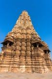 Devi Jagdambi Temple, temples occidentaux dans des temples de Khajuraho de l'amour, Madya Pradesh, Inde Photographie stock