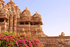 Devi Jagdambi Temple, temples occidentaux dans Khajuraho, Inde Photo libre de droits