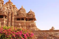 Devi Jagdambi Temple västra tempel i Khajuraho, Indien Royaltyfri Foto