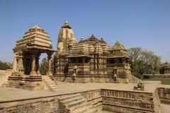 Devi Jagdambi Temple, Westelijke Tempels van Khajuraho, India Royalty-vrije Stock Foto's