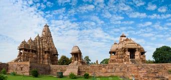 Devi Jagdambi Temple, wijdde aan Parvati, en Kandariya Mahade toe Stock Foto