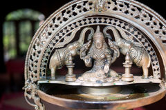 Devi Kamala indian goddess elephant sculpture Royalty Free Stock Photography