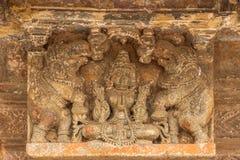 Devi Lakshmi en actitud clásica en el templo de Chennakeshava en Belur, la India fotografía de archivo libre de regalías