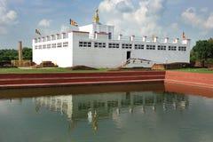 devi lumbini玛雅人尼泊尔寺庙 库存图片
