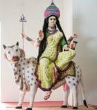 Devi MAHAGAURI för hinduisk gud förebild arkivfoto