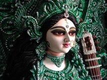 Devi Saraswati Diosa de la sabiduría Imagen de archivo libre de regalías