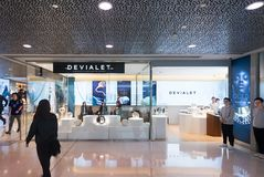 Devialet store in Hong Kong IFC Mall Stock Photography