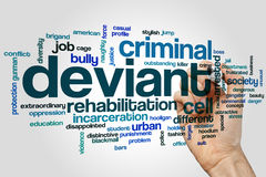 Deviant word cloud concept on grey background.  Stock Photo
