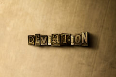 DEVIATION - close-up of grungy vintage typeset word on metal backdrop Royalty Free Stock Images