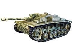 Deviazione standard tedesca della pistola di assalto Kfz 142 StuG III StuG 40 Ausf F isolata Fotografie Stock