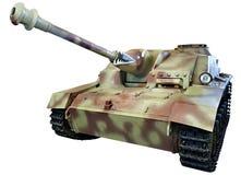 Deviazione standard tedesca della pistola di assalto Kfz 142 StuG III StuG 40 Ausf G isolato Fotografie Stock
