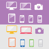 Device. Set of devices, including smartphone, computer and television Royalty Free Stock Photography