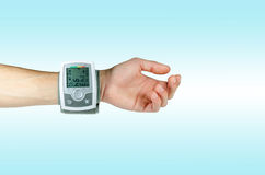 Device for blood pressure heart rate Stock Images
