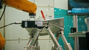 A device checking the airplane stability working