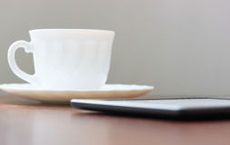 Device an coffee Royalty Free Stock Photo