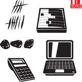 Device evolution. Computing, calculate devices Vector Illustration