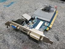 Graphic card for computer royalty free stock images