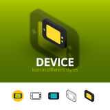 Device icon in different style Stock Photography