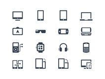 Device icons. Gadgets Stock Image