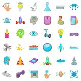 Device icons set, cartoon style Stock Images